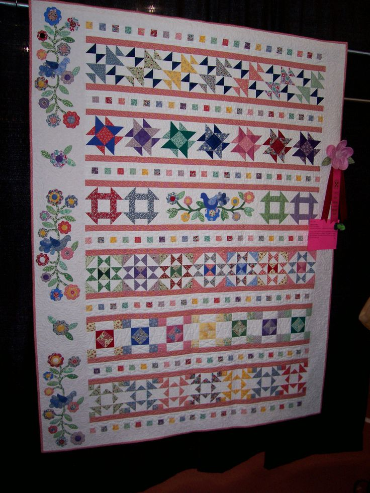 Magical Threads - Inspired Stitches Quilt Show 2013 - Sampler Rows Quilt
