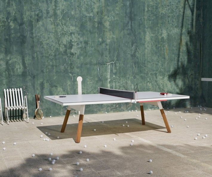 RS Barcelona Tischtennisplatte Esstisch. Ping Pong Table in White