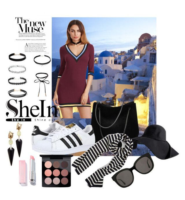 """SHEIN"" by mdg-araujo ❤ liked on Polyvore featuring Gucci, adidas Originals, Armor-Lux, MAC Cosmetics, Alexis Bittar and Gentle Monster"