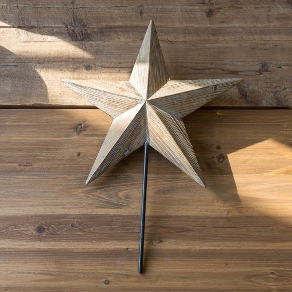 Dimensional Wooden Star Tree Topper Wooden Stars Diy Tree Topper Christmas Tree Star Topper