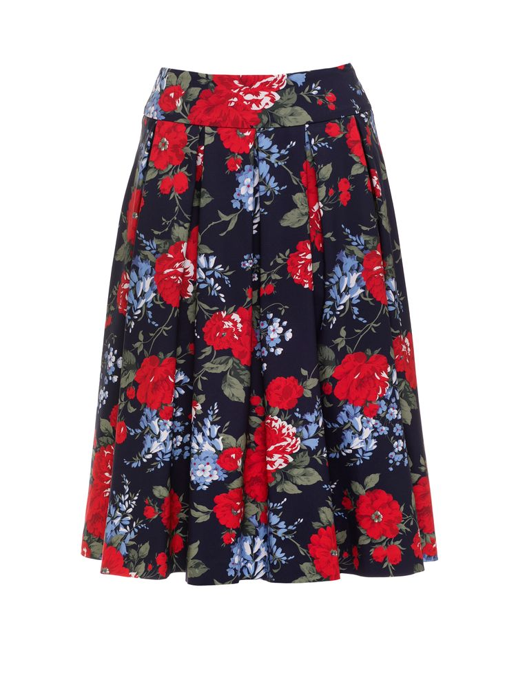 Daydream Floral Skirt | Navy & Multi | Skirts