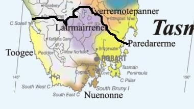 SE Cape State based on Indigenous peoples' history and the flow of water.