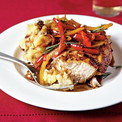 Roast Chicken with Balsamic Bell PeppersMashed Potatoes, Belle Peppers, Bell Peppers, Cooking Lights, Roasted Chicken, Balsamic Belle, Balsamic Chicken, Roastchicken, Dinner Recipe