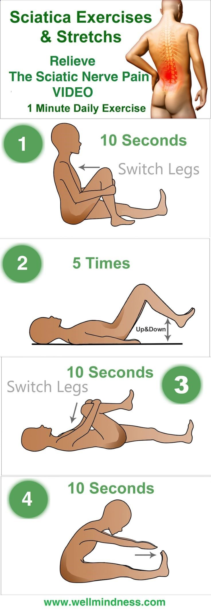 If you want to relieve the sciatic nerve pain without using the help of a physical therapist simply watch this video.