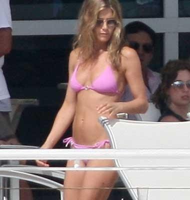 Bikini White Jennifer Aniston