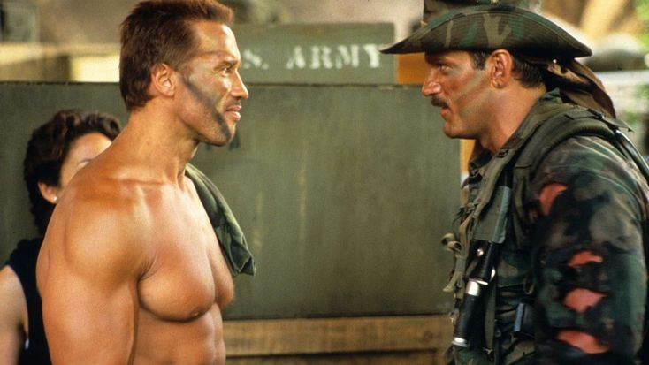 Arnold Schwarzenegger & Jesse Ventura in #Predator (1987). #JesseVentura