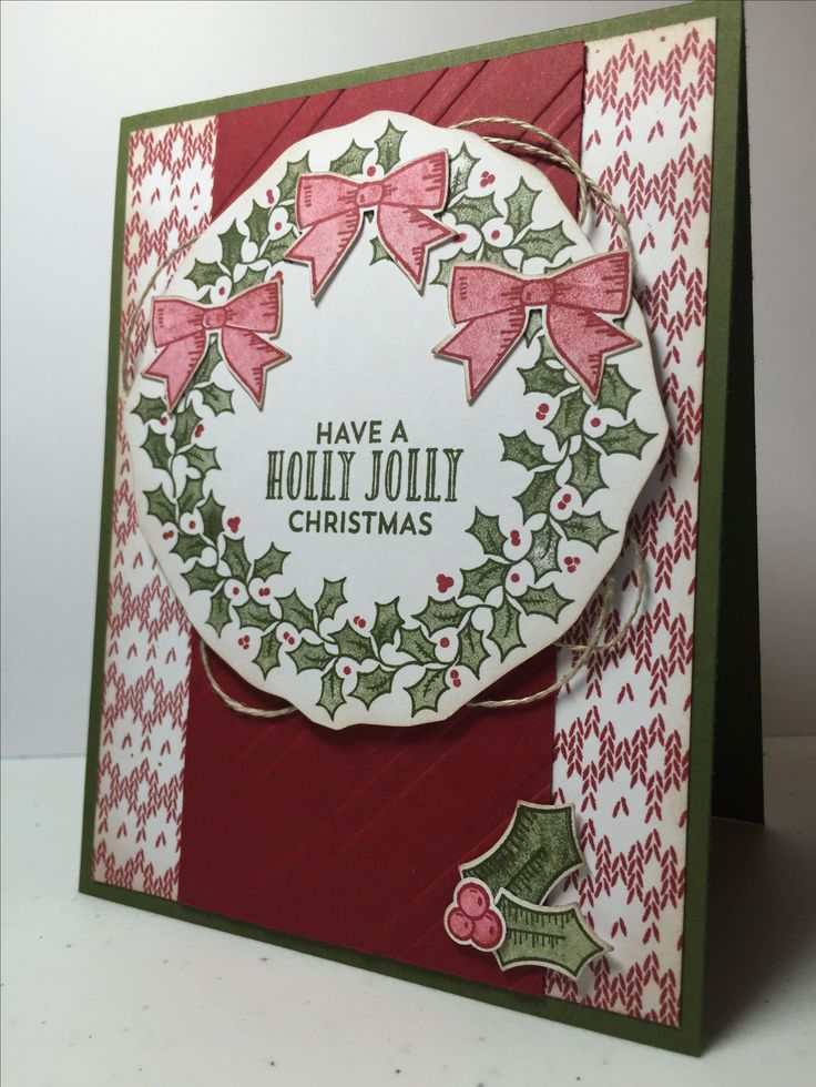 Stampin Up Holly Berry Happiness and Stitched With Cheer, Kristy McNiven