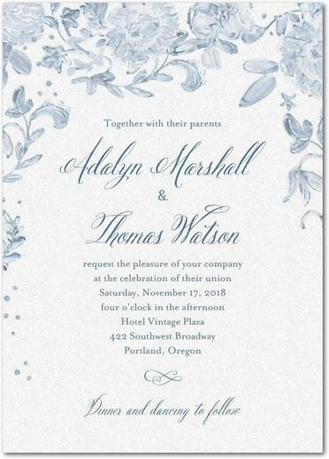 Delicate Moment   Shimmer Wedding Invitations In Pool Or Mauve | Coloring  Cricket