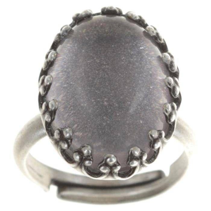 Konplott Chinoiserie Ring weiß grau