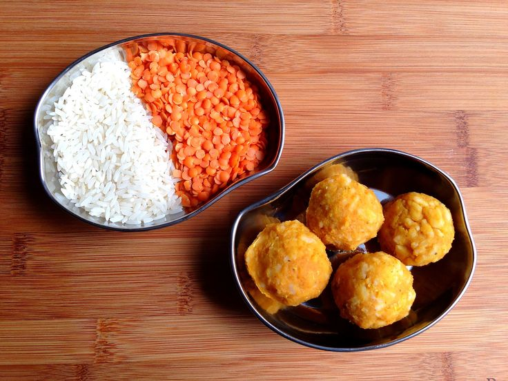 My favorite Indian recipe for toddlers - Red lentil rice balls :D (vegetarian sources of protein for little ones)