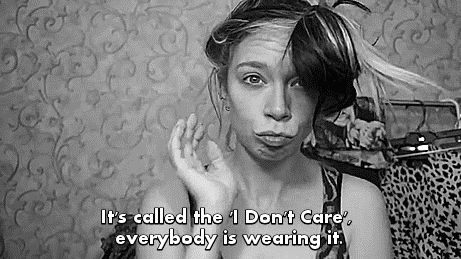 Its called the I don't care look. everyone is wearing it.