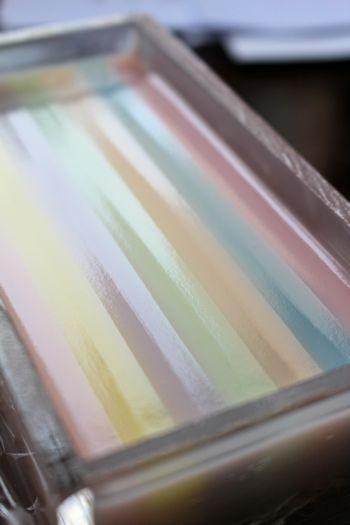 サテンリボンのようなデザイン石けん 新潟 手作り石鹸の作り方教室 アロマセラピーのやさしい時間