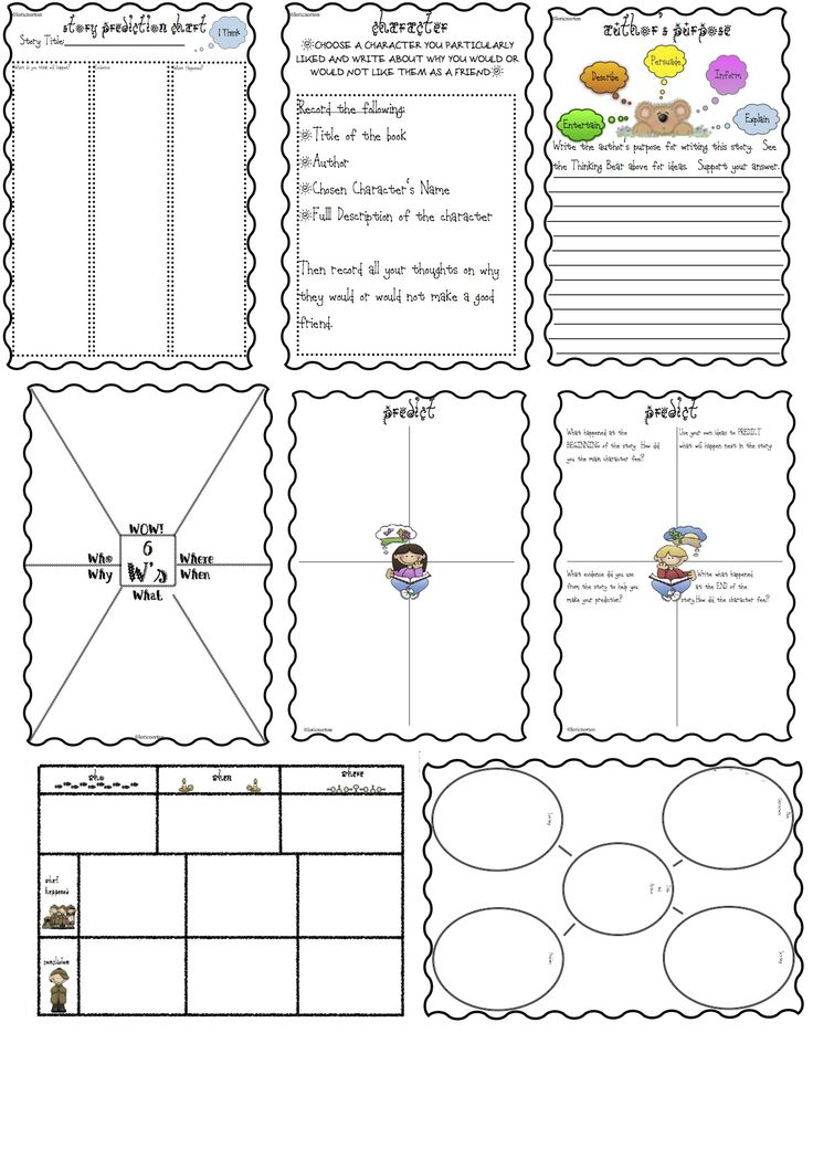 You can use these worksheets as a follow up activity after guided or reciprocal reading or as an independent task. Great set of generic worksheets which you can use from NE (where they can draw pictures) to Year 6 (where they can add more written details). This package includes 18 worksheets in a 9 page booklet.