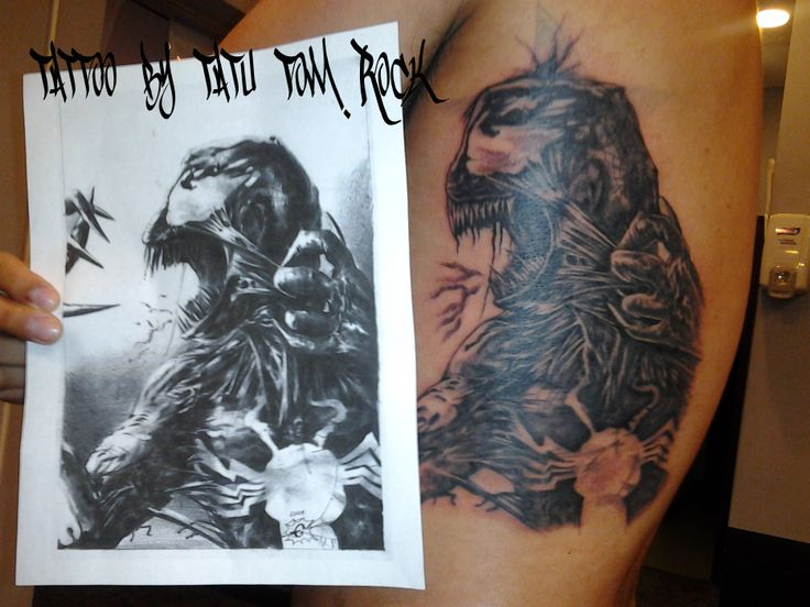 #tattoo #Chicago #tatutomrock #comic #character #venom #blackandgrey #art #artist #tattoos
