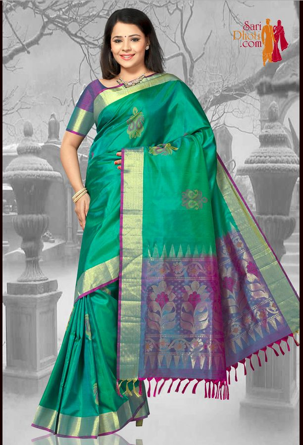 Kanchipuram sarees: the Indian born sarees @ http://www.saridhoti.com/