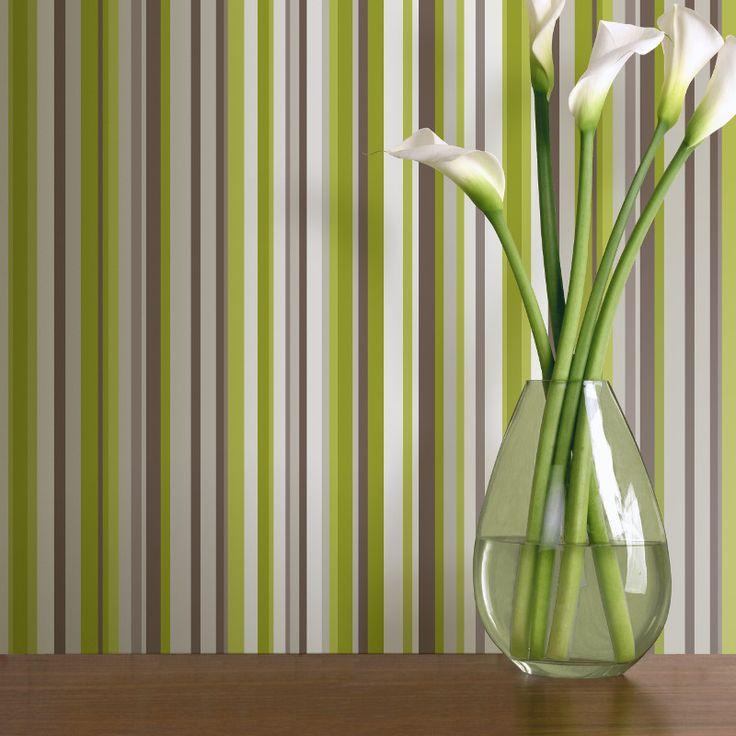 Arthouse Sophia Stripe Wallpaper in Green - http://www.godecorating.co.uk/arthouse-sophia-stripe-wallpaper-green/