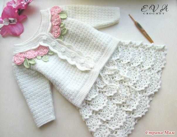 Irish crochet &: GIRLS JACKET + SKIRT ... ДЛЯ ДЕВОЧКИ