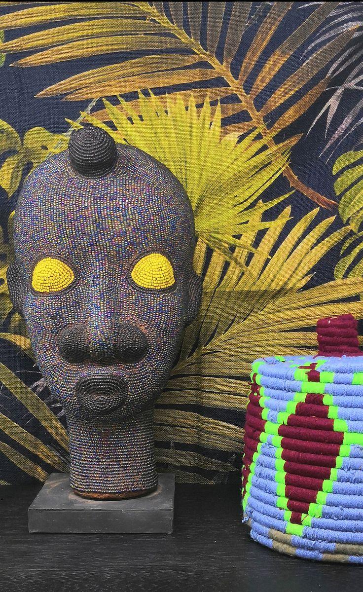 Tete Perlee En Provenance De Mauritanie Deco Africaine Objet Deco Decoration Interieure