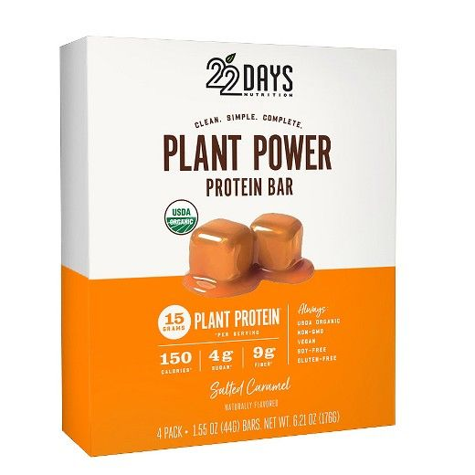 22 Days Nutrition Salted Caramel Protein Bar - 6.21Oz : Target