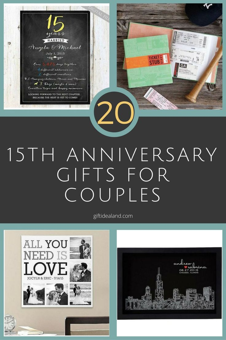 20 Great 15th Anniversary Gifts For Couples, Husband, Wife, Him, Her