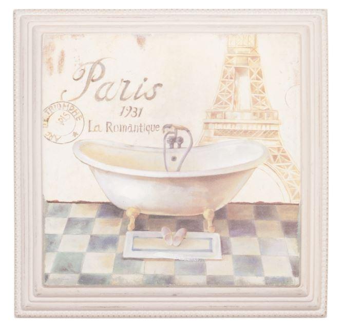 "Cuadro ""Paris"" Medidas: 31 * 31 cm"
