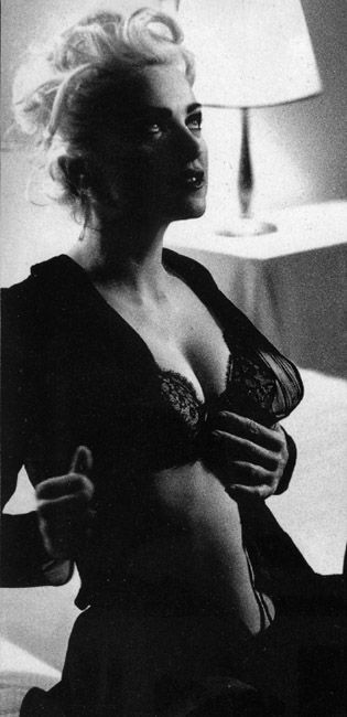 From the making of the Justify My Love video. The pictures were taken by Stephen Sednaoui, who later directed the video for Fever, 1990.