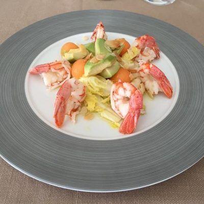 shrimps with avocado....mazzancolle con avocado