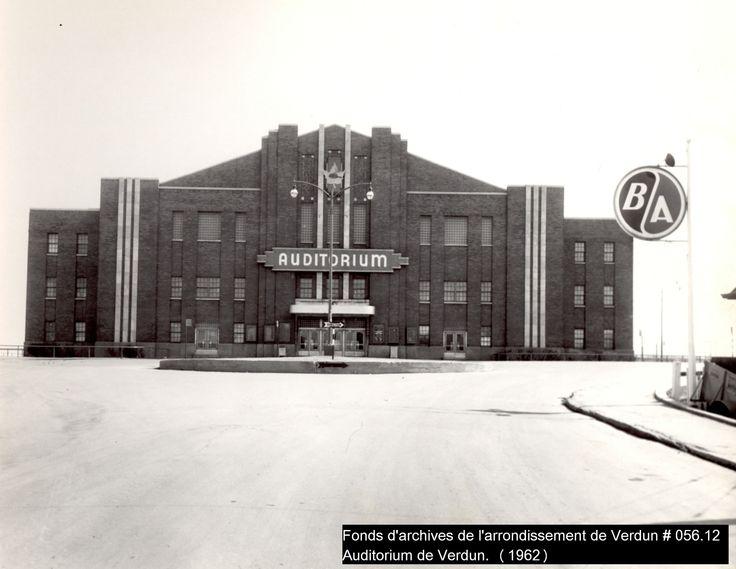 L'Auditorium de Verdun, lieu d'événements sportifs et culturels (1962)  Crédit: Fonds d'archives de l'arrondissement de Verdun