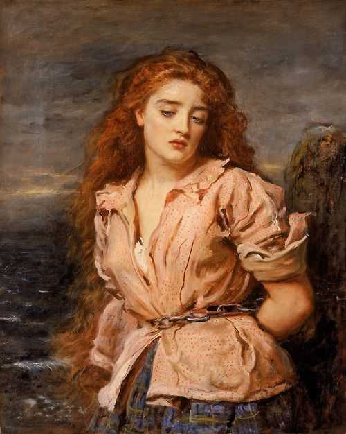 The Martyr of the Solway = Sir John Everett Millais (English, 1829-1896)