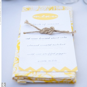 napkin & menu card