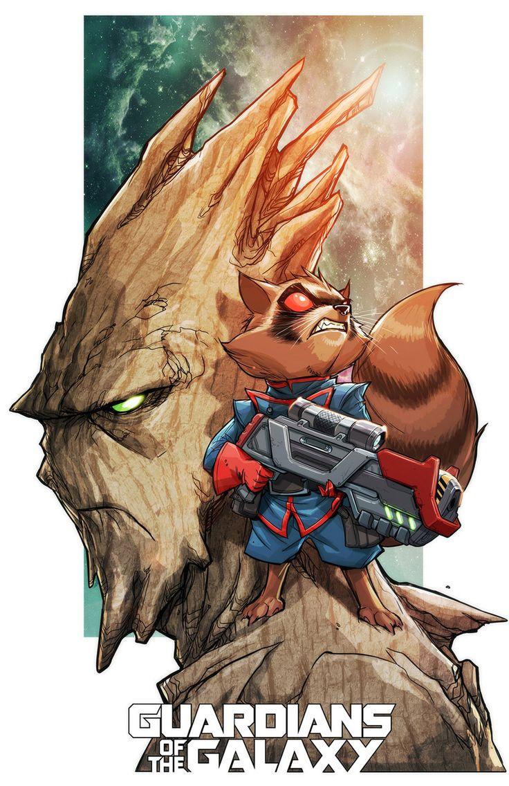 "thecyberwolf:  "" Guardians of the Galaxy  Created by Eddie Nunez (Mia Cabrera)  """
