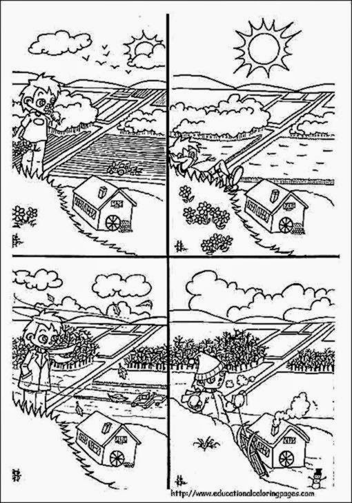 Free Desktop Coloring Weather Coloring Pages Printable On Weather Coloring Pages Weather Coloring Pages Krokotak Summer Coloring Pages Coloring Pages Seasons