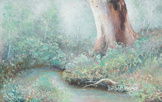Landscape oil painting canvas art paintings of trees