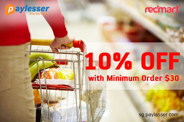 Use this coupon code and get 10% discount with minimum order $30. #Redmart #Coupon #paylesser Why pay more?