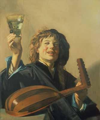 The Merry Lute Player by Frans Hals: Dutch Republic