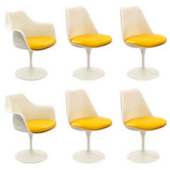 View This Item And Discover Similar Dining Room Chairs For Sale At   Set Of  Six Eero Saarinen For Knoll Tulip Chairs, Circa These Fun Examples Have  Been ...