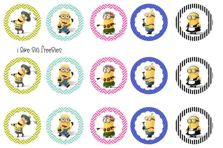 I like big freebies: Despicable Me bottlecap images (Minions)