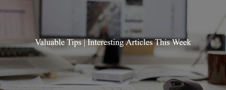Valuable Tips to Help Your Social Marketing 28  Interesting Articles This Week #xtremefreelance #wordpressdevelopment