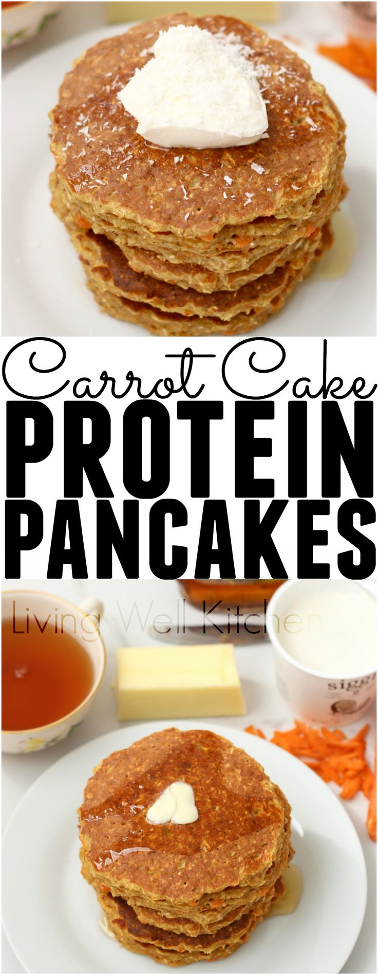 Carrot Cake Protein Pancakes | Recipe | Gluten, Carrot cakes and Blog