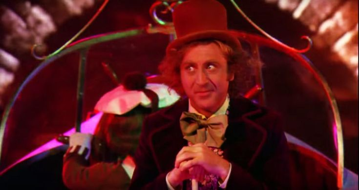 The 1971 movie version makes Wonka's psychotic tendencies crystal clear when the cocoa pusher takes the kids on an LSD-inspired boat ride, brainwashing them with images so disturbing that even Guantanamo would consider them 'a bit much' (for example, a huge insect crawling across someone's face,