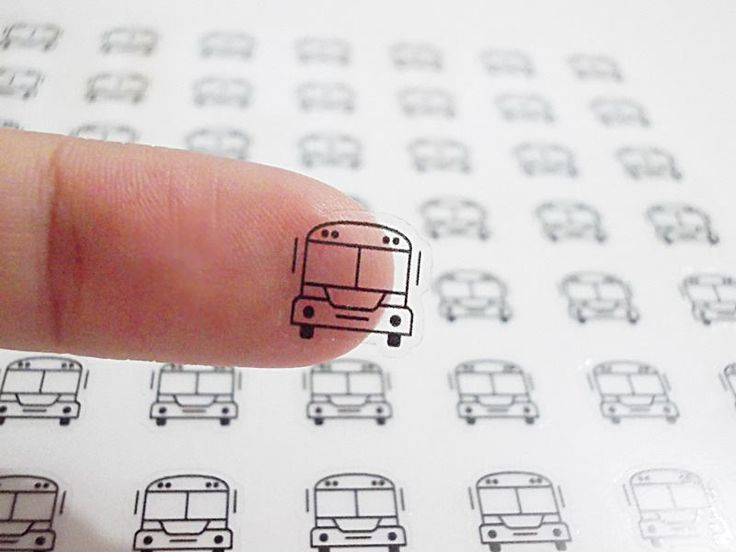Clear School Bus Planner Stickers, Bus Stickers, Erin Condren Planner Stickers, Happy Planner Stickers, Clear Planner Stickers (st241#) by CENTERPATCH on Etsy