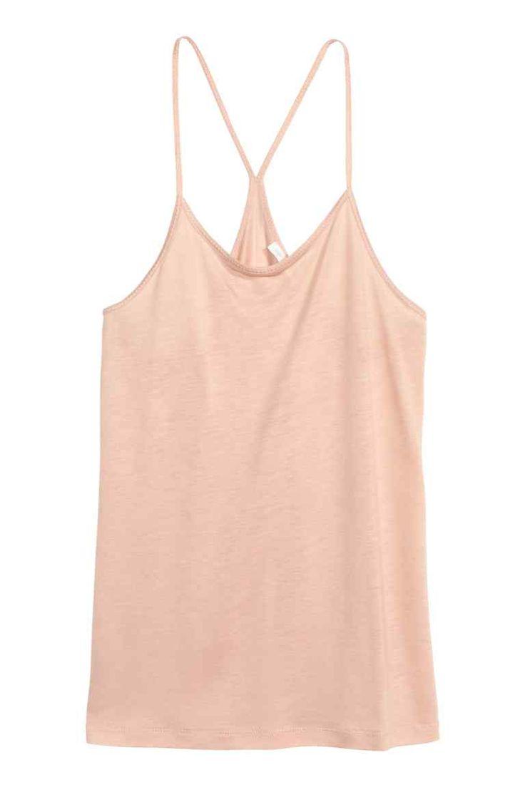 Top de alças em lyocell | H&M