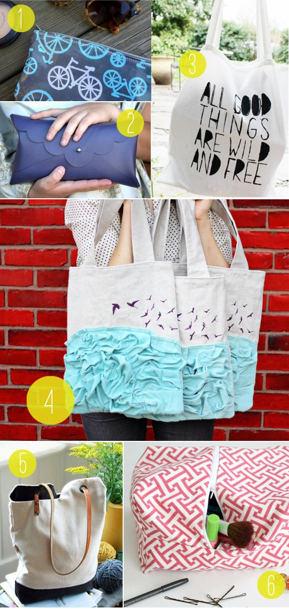 DIY Roundup: Totes & Clutches: Vary Level, Henry Happen, Bags Tutorials, Diy Crafts, Bags Diy, Diy Roundup, Diy Bags, Totes Clutches, Bag Tutorials