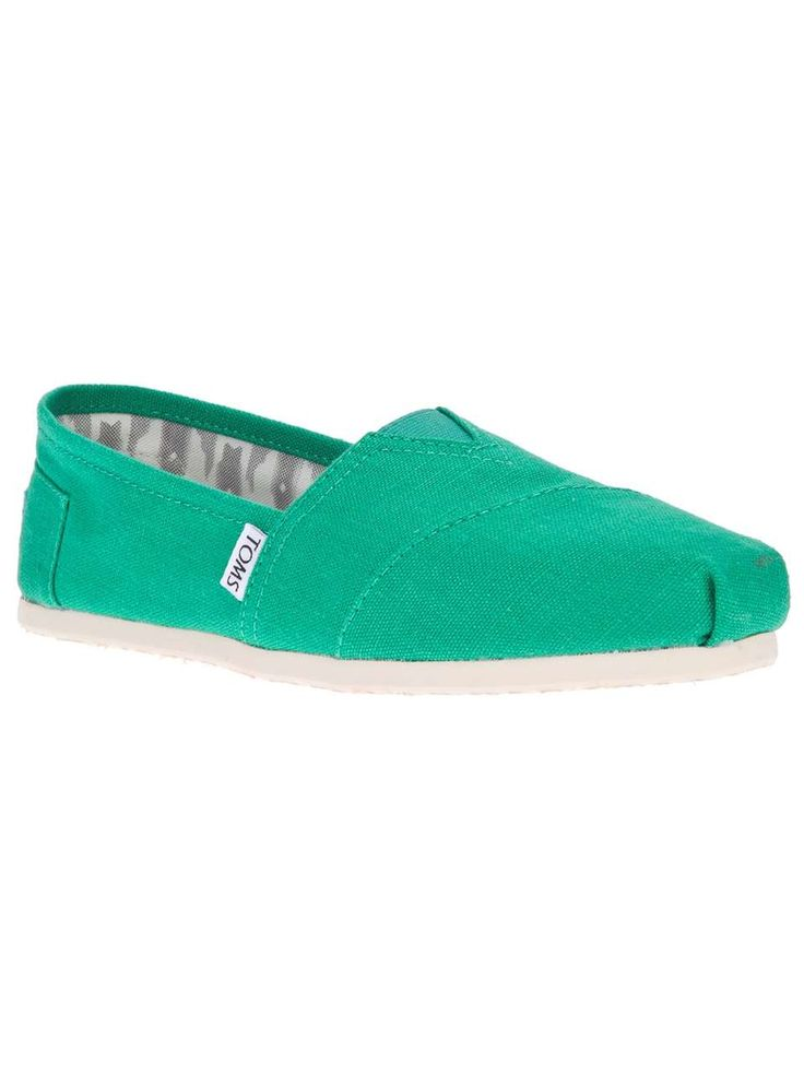 Toms classic espadrille- my new shoes loving the green