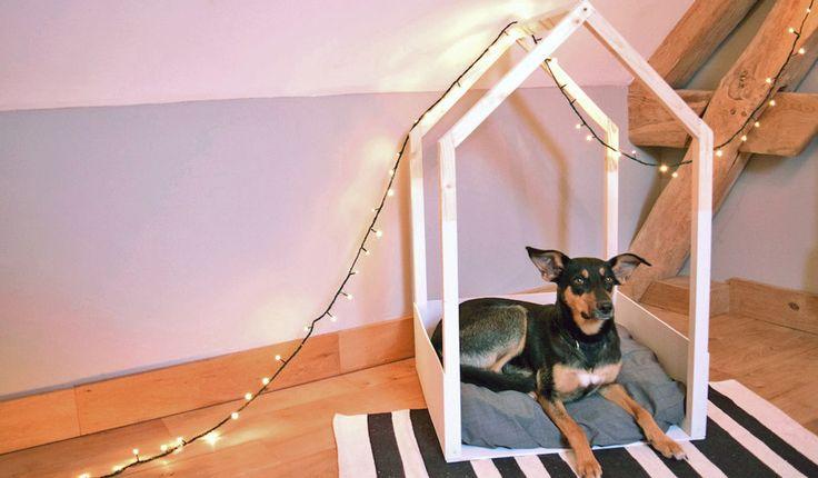 les 25 meilleures id es de la cat gorie les niches de chien d 39 int rieur sur pinterest espaces. Black Bedroom Furniture Sets. Home Design Ideas