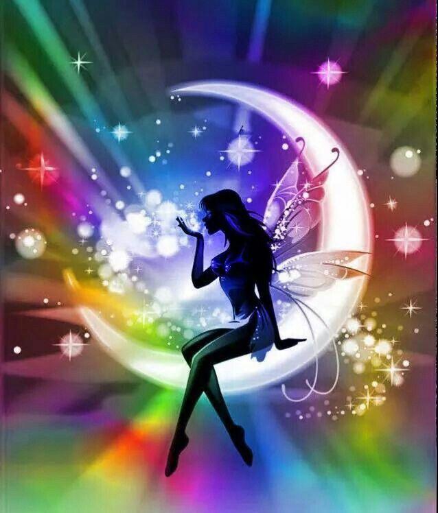 Rainbow Moon & Rainbow God with Rainbow God's Child Me Rainbow Naru. ❤