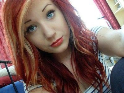 1000 Ideas About Red Blonde Highlights On Pinterest