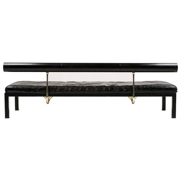 Black Leather Sity Daybed by Antonio Citterio for B