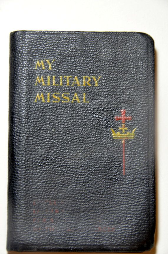 My Military Missal. Catholic Missal. Sunday Missal. Military Collectibles. Veteran Gifts. Catholic Bible. Mini Prayer Book. 1940s Old Bible.. by RustyCurios