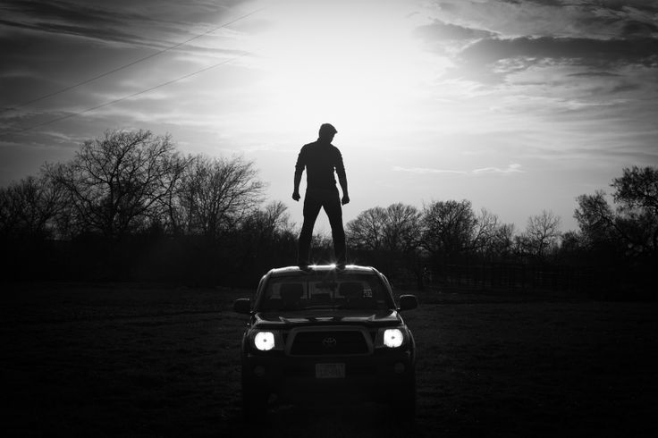 Senior picture for Guys, My truck and one cool dude